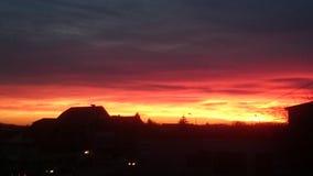 burning sky Fotografering för Bildbyråer