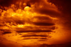 Burning sky. Abstract dramatic colorful burning sky Stock Photo