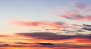 Burning sky background Stock Images