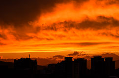 Burning sky stock photography
