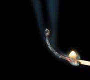 burning slutmatch till Arkivfoto