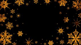 Burning snowflakes rotate and form a circle on a transparent background stock video