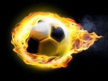 Burning soccer ball Stock Photos