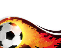 Burning  soccer ball Royalty Free Stock Photos