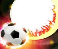 Burning soccer ball Stock Photography