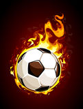 Burning soccer ball. Vector illustration Royalty Free Stock Images