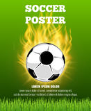 Burning soccer ball vector poster template Stock Image