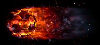 Burning soccer ball Stock Image
