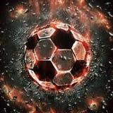 Burning soccer ball Royalty Free Stock Photography