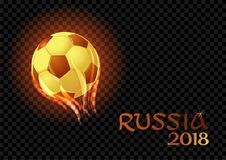 Burning soccer balls isolated on a black transparent backdrop. Vector EPS 10 Stock Photo