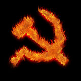 Burning soviet union ussr Stock Image