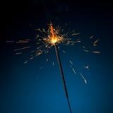 burning sparkler Arkivfoto