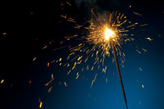 Burning sparkler Royalty Free Stock Photo