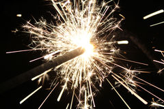 Burning sparkler Stock Photos