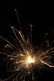 Burning sparklers on black background Royalty Free Stock Photography