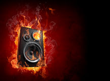 Burning speaker vector illustration