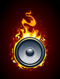 Burning speaker. Vector illustration Royalty Free Stock Photography