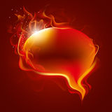 Burning speech bubble Stock Photos
