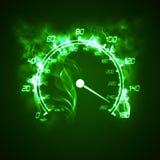 Burning speedometer. Illustration of the burning speedometer in the smoke Royalty Free Stock Photos