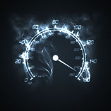 Burning speedometer Stock Photography