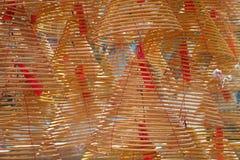 Burning spiral incense Stock Photo