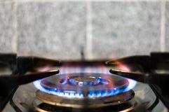 burning spisgas Royaltyfri Fotografi