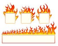 Burning square frame Royalty Free Stock Photos