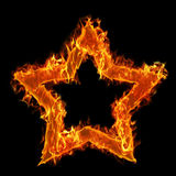 Burning Star Royalty Free Stock Photo