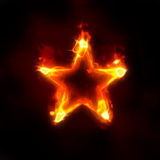 Burning star. Abstract background - burning star on black Stock Photos
