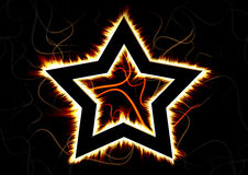 The Burning Star Royalty Free Stock Image