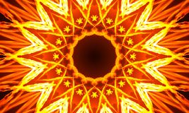 Burning star-shaped mandala Art. Abstract Illustration - Burning star-shaped mandala Art with repetitive shapes and kaleidoscopic patterns royalty free illustration