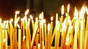 burning stearinljus stock video