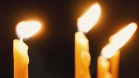 burning stearinljus lager videofilmer