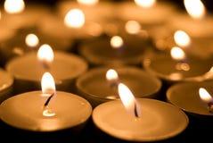 burning stearinljus Fotografering för Bildbyråer