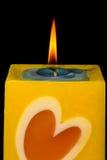burning stearinljus Arkivfoton