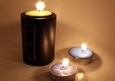 burning stearinljus Royaltyfria Bilder