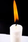 burning stearinljus Arkivfoto