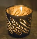 burning stearinljus Arkivbilder