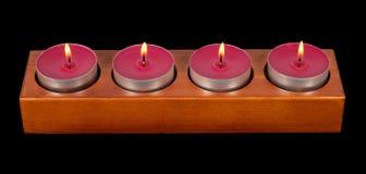 burning stearinljus fyra Royaltyfria Foton