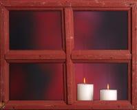 burning stearinljus jul Royaltyfri Bild