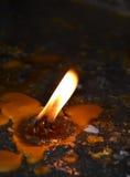 burning stearinljus kyrka Royaltyfri Fotografi
