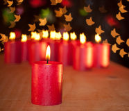 burning stearinljus peacefully tyst Royaltyfria Bilder