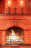 burning stearinljus spis Royaltyfria Bilder