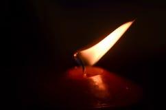 burning stearinljusdark Arkivfoto