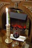 burning stearinljusexponeringsglas Arkivfoto