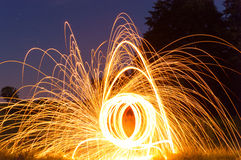 Burning steel wool Royalty Free Stock Image