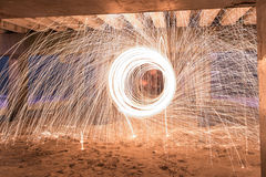 Burning Steel Wool Royalty Free Stock Photography