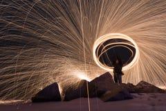 Burning Steel Wool Stock Photos