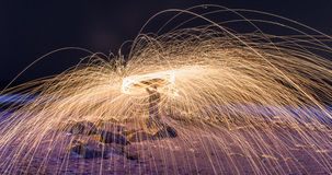 Burning Steel Wool Royalty Free Stock Photos