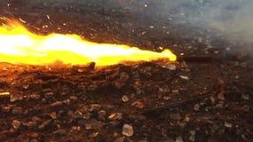 Burning stick stock video footage